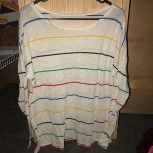 Multi-colored striped shirt